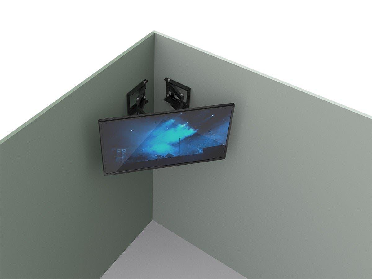 Monoprice cornerstone series full motion articulating tv - Slanted wall tv mount ...