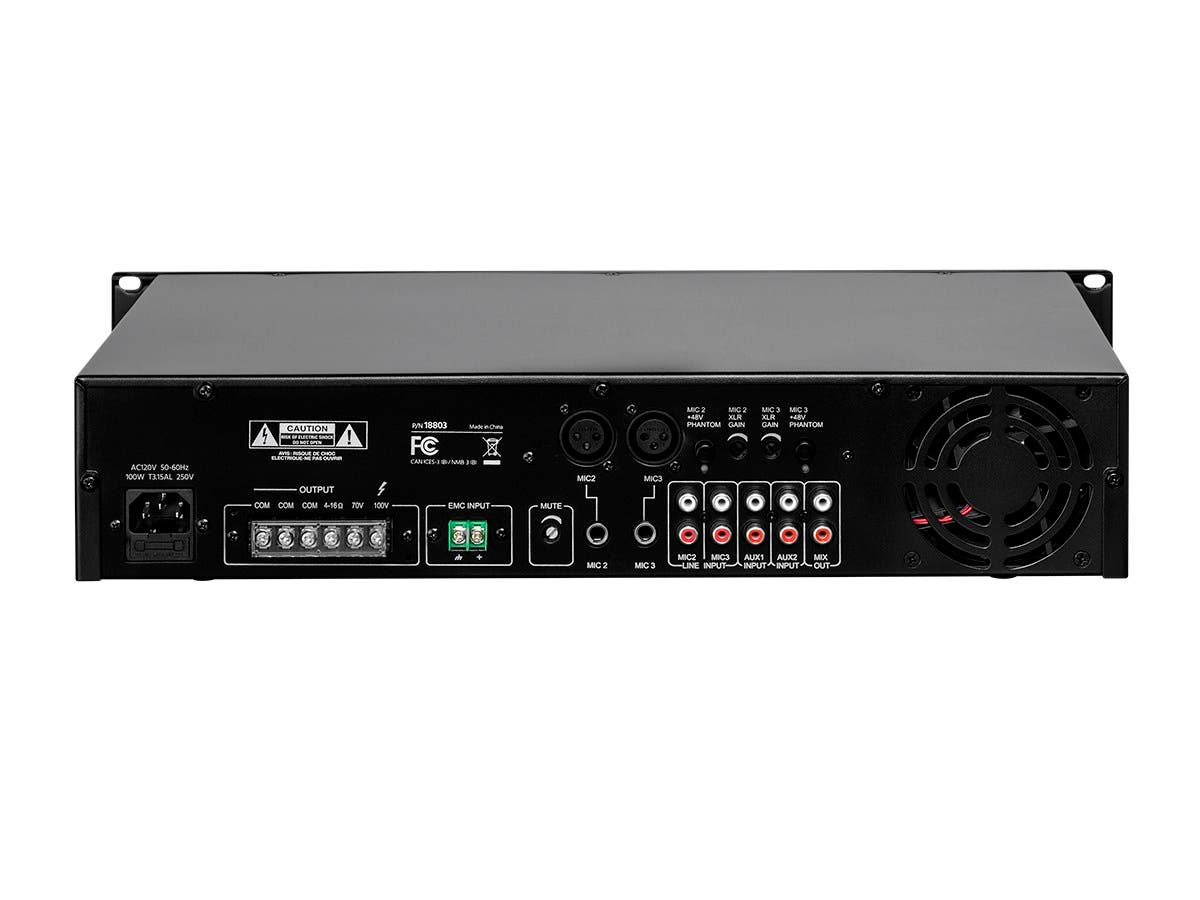 Commercial audio 60w 5ch 10070v mixer amp with microphone share facebook twitter sciox Choice Image
