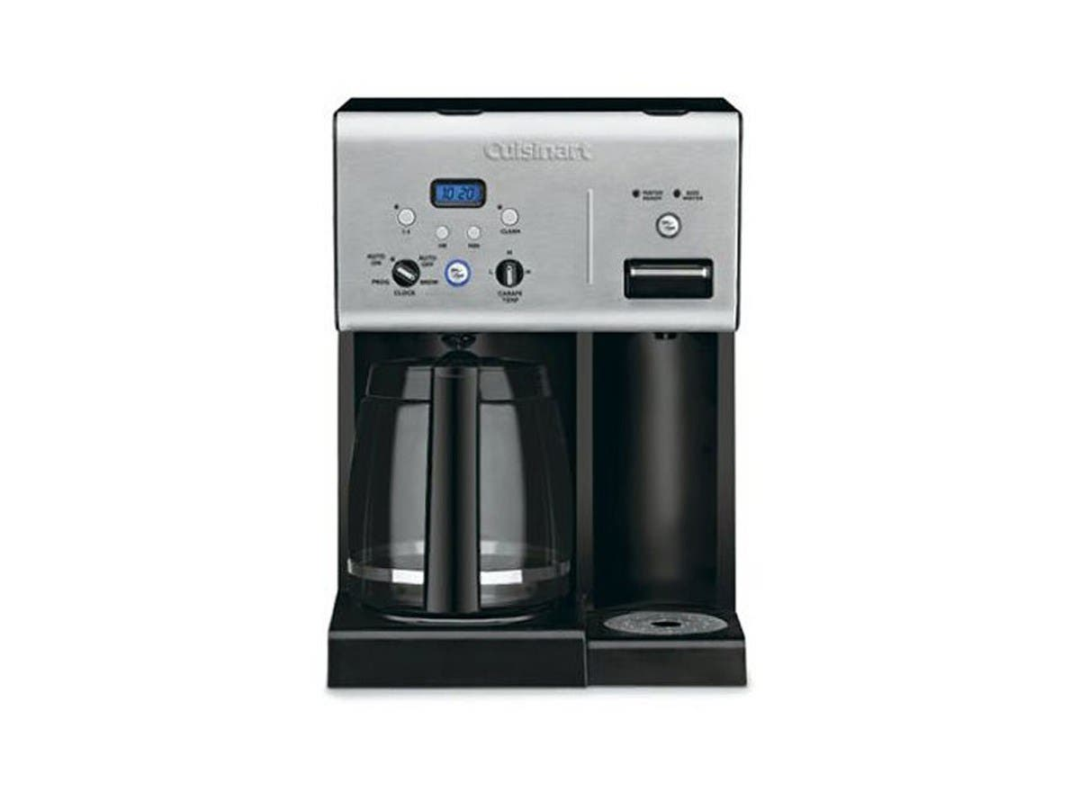 CuisinartCoffee Plus 12-Cup Programmable Coffeemaker with Hot Water System - Black/Stainless - CHW-12