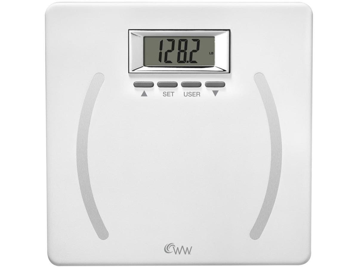 Weight Watchers Plastic Body Analysis Scale - 350 lb / 159 kg Maximum Weight Capacity - Plastic, Stainless Steel