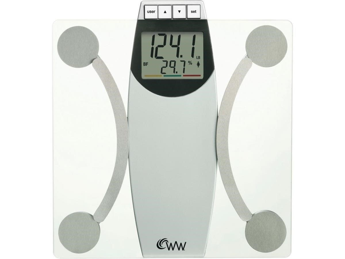 Weight Watchers Glass Body Analysis Scale - 400 lb / 180 kg Maximum Weight Capacity - Glass
