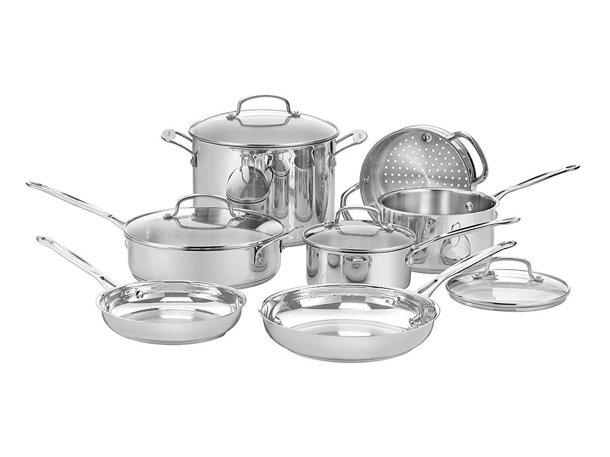 Cuisinart Chef's Classic Stainless 11-Piece Cookware Set - 77-11G