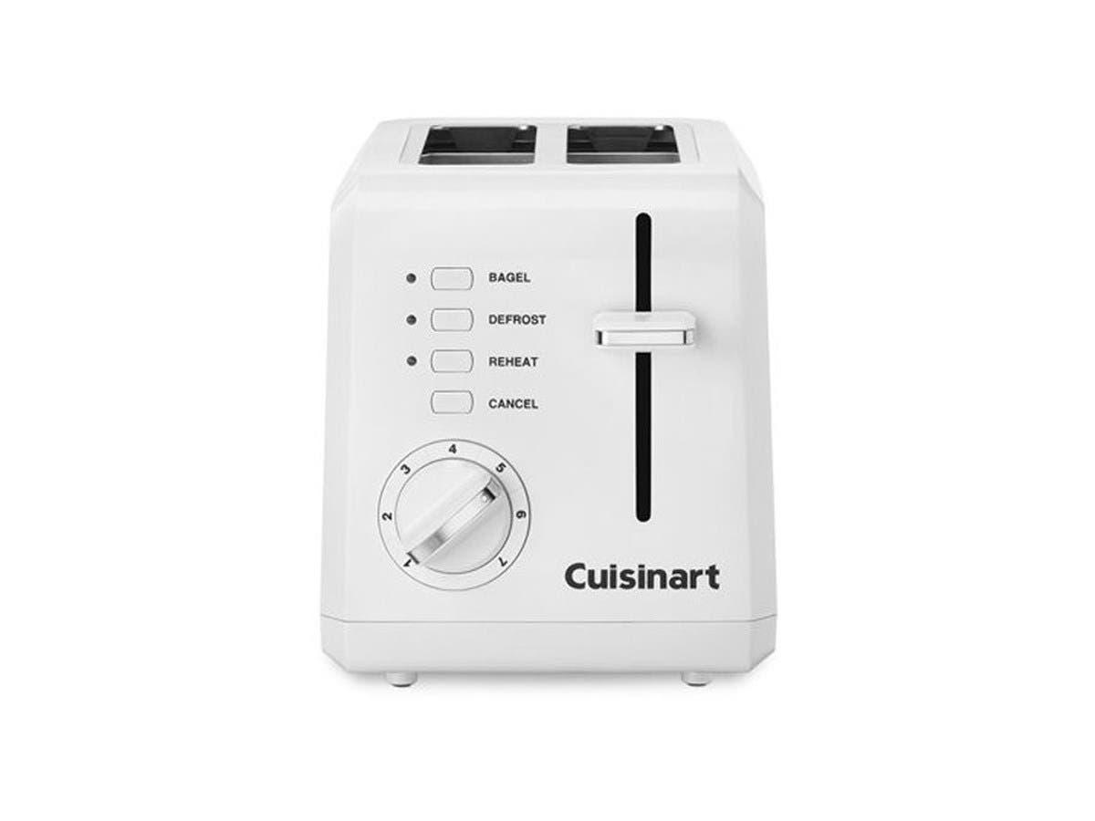 Cuisinart 2-Slice Compact Plastic Toaster - White - CPT-122