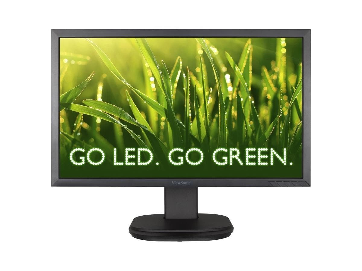 "Viewsonic VG2439m-LED 24"" LED LCD Monitor - 16:9 - 5 ms - 1920 x 1080 - 300 Nit - 20,000,000:1 - Full HD - Speakers - DVI - VGA - DisplayPort - USB - 42 W-Large-Image-1"