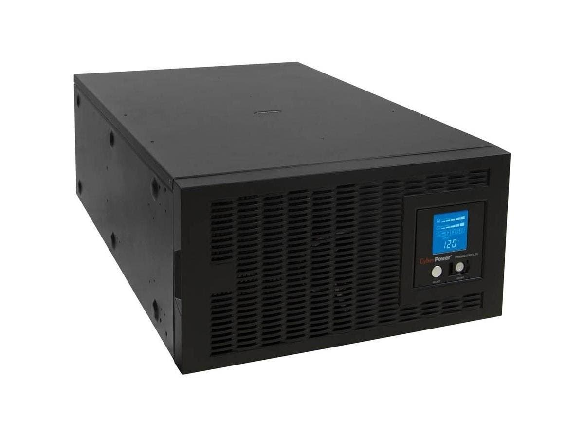 CyberPower TAA Compliant Smart App Sinewave PR5000LCDRTXL5UTAA 5000 VA Rack-mountable UPS - 5000VA/4kW - 5URack-mountable 11Minute Full Load - 3 x NEMA L6-30R - Battery/Surge-protected, 2 x NEMA L6-20-Large-Image-1