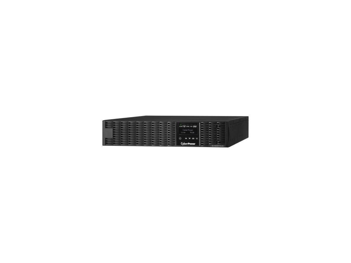 CyberPower Smart App Online OL1000RTXL2U 1000VA 100-125V Pure Sine Wave LCD Rack/Tower UPS - 1kVA 6Minute Full Load - 8 x NEMA 5-15R-Large-Image-1