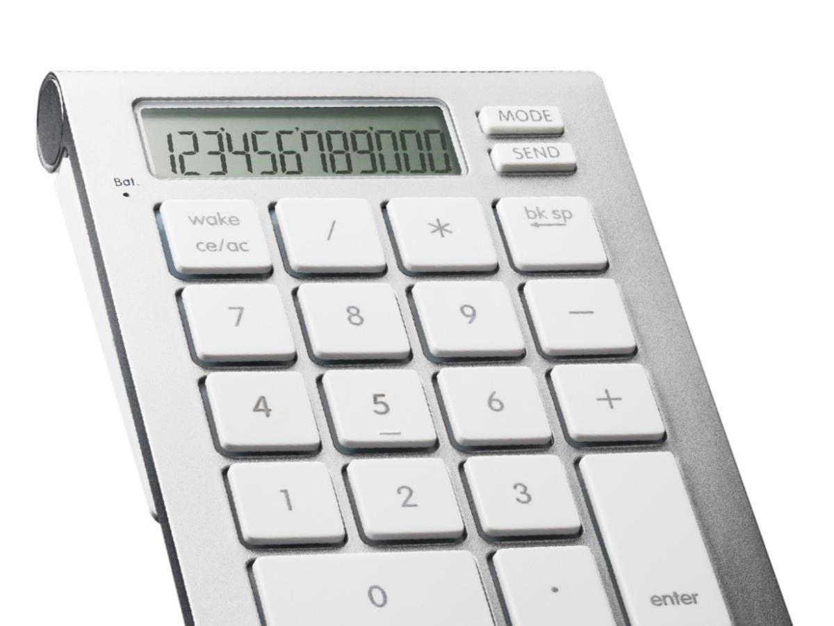SMK-Link iCalc Bluetooth Calculator Keypad - Wireless Connectivity - Bluetooth - 10 Key - Compatible with Computer, Tablet (PC, Mac) - Built-in Calculator-Large-Image-1