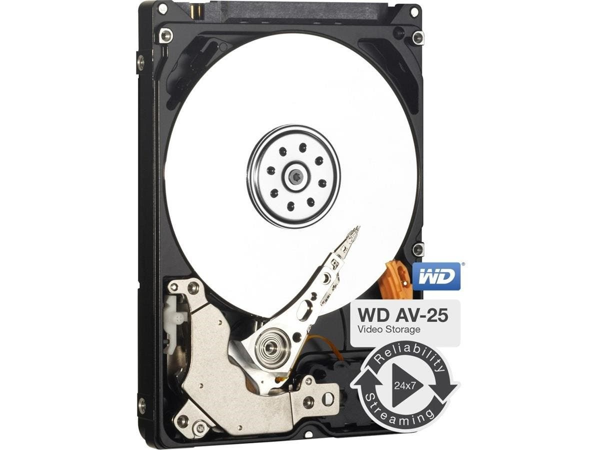 "WD AV-25 WD5000LUCT 500 GB 2.5"" Internal Hard Drive - SATA - 5400rpm - 16 MB Buffer-Large-Image-1"