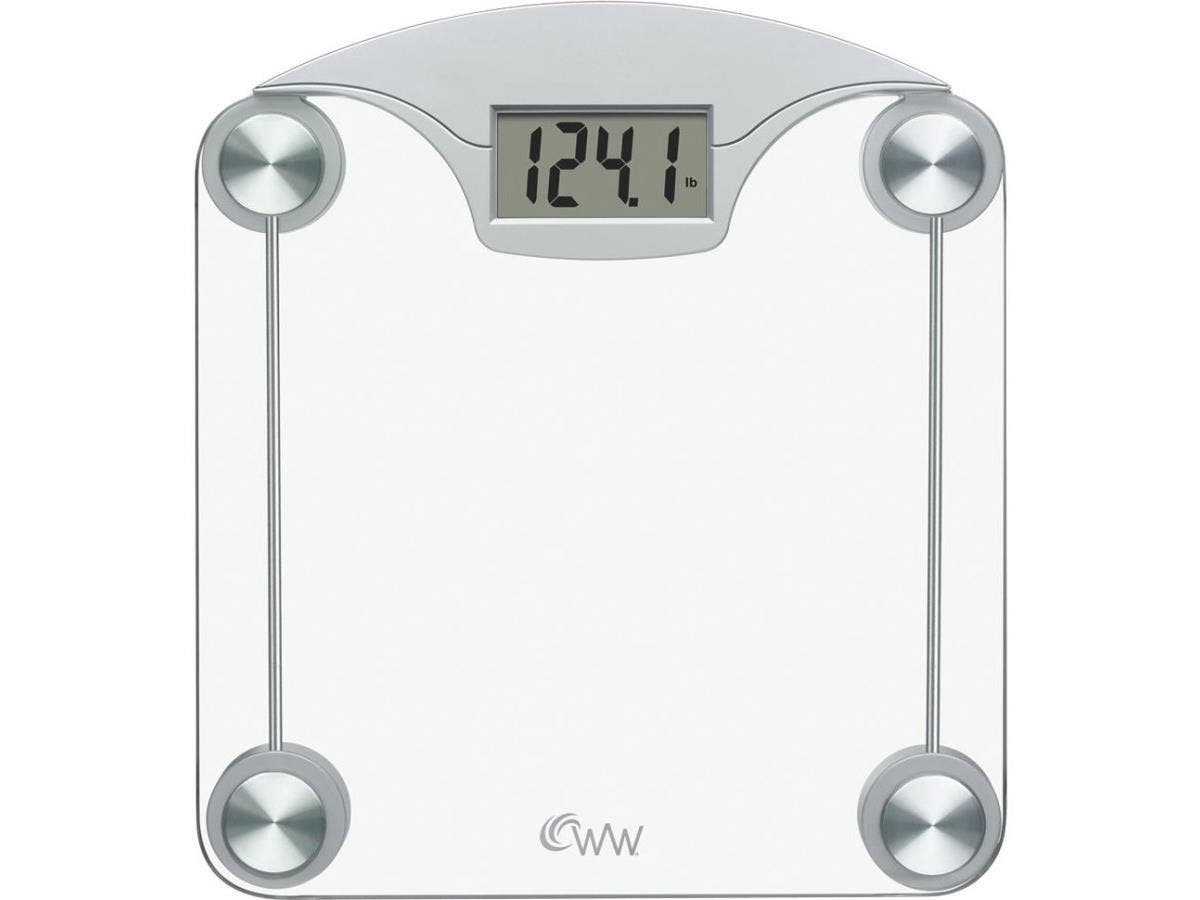 Weight Watchers WW39N Digital Medical Scale - 400 lb / 180 kg Maximum Weight Capacity - Tempered Glass, Stainless Steel - Silver