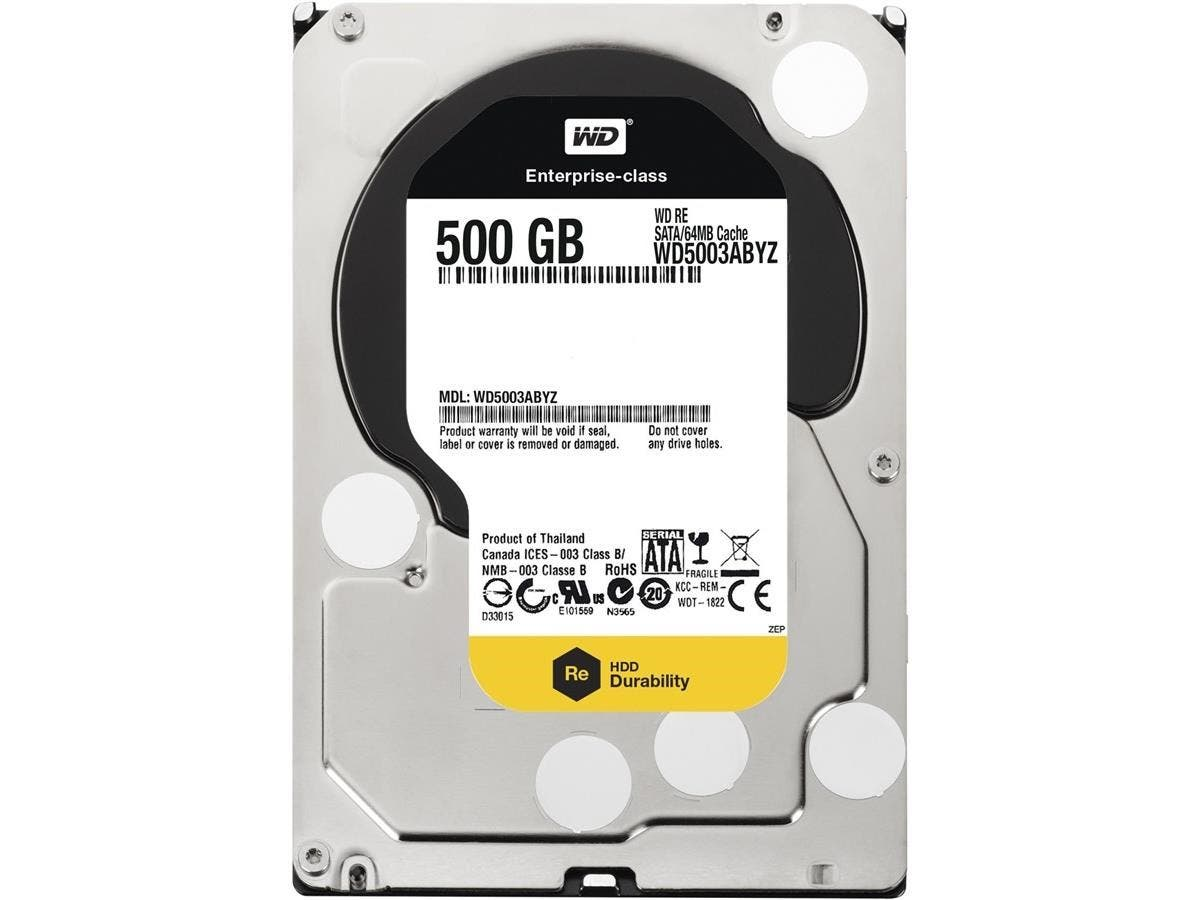 "WD RE WD5003ABYZ 500 GB 3.5"" Internal Hard Drive - SATA - 7200rpm - 64 MB Buffer"