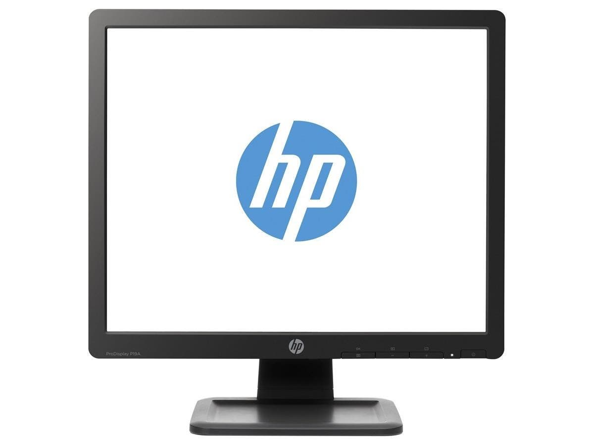 "HP Essential P19A 19"" LED LCD Monitor - 5:4 - 5 ms - Adjustable Display Angle - 1280 x 1024 - 250 Nit - 1,000:1 - SXGA - VGA - 25 W - Black - EPEAT Gold, ENERGY STAR, TCO Certified-Large-Image-1"