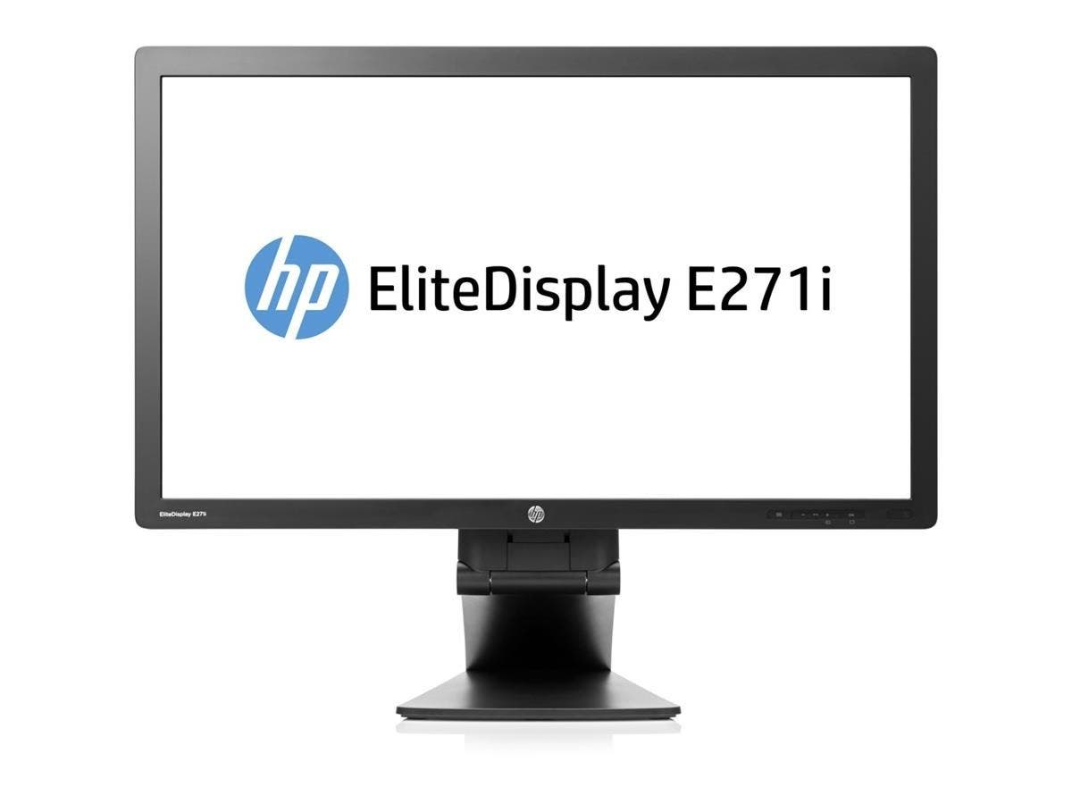 "HP Business E271i 27"" LED LCD Monitor - 16:9 - 7 ms - Adjustable Display Angle - 1920 x 1080 - 250 Nit - 1,000:1 - Full HD - DVI - VGA - DisplayPort - USB - 40 W - Black - ENERGY STAR"