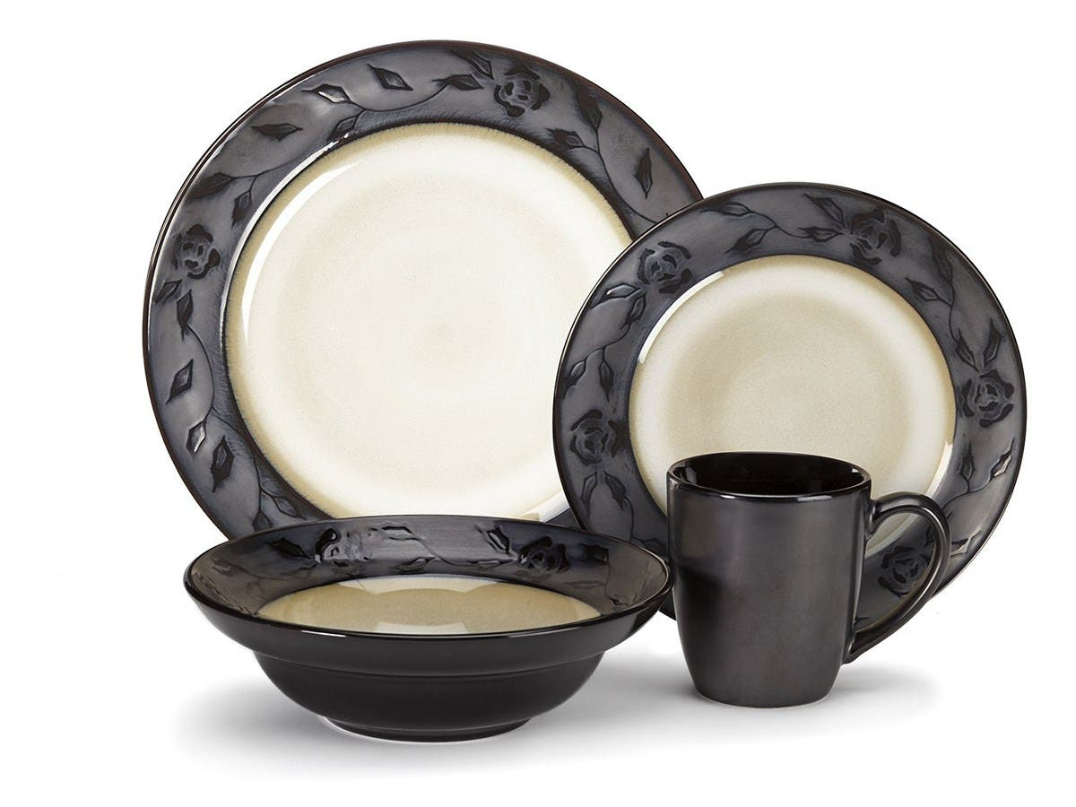 Cuisinart Stoneware Abilly Collection 16-Piece Dinnerware Sets - CDST1-S4G4