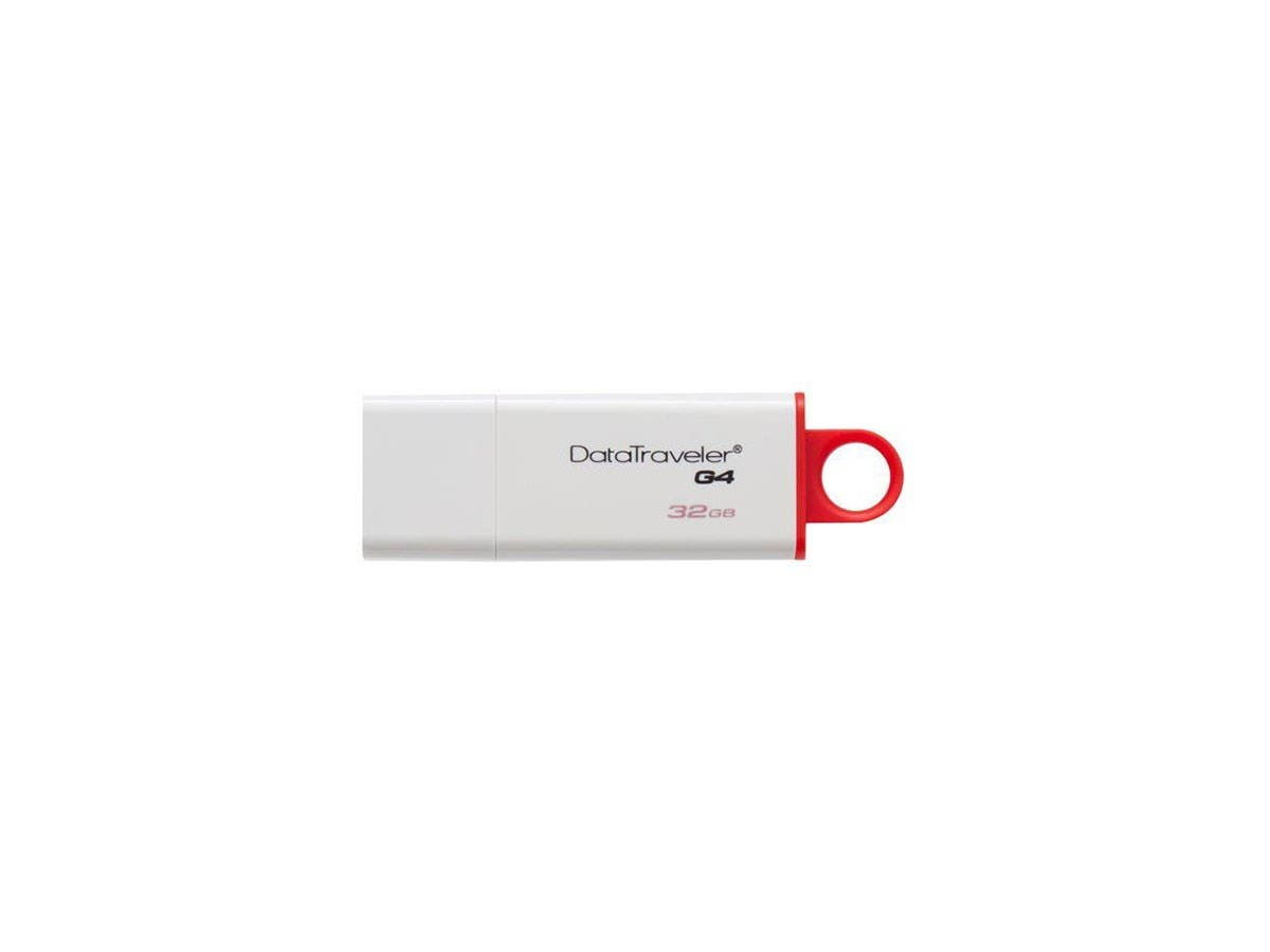 Kingston 32GB DataTraveler G4 USB 3.0 Flash Drive - 32 GB - USB 3.0 - Red, White