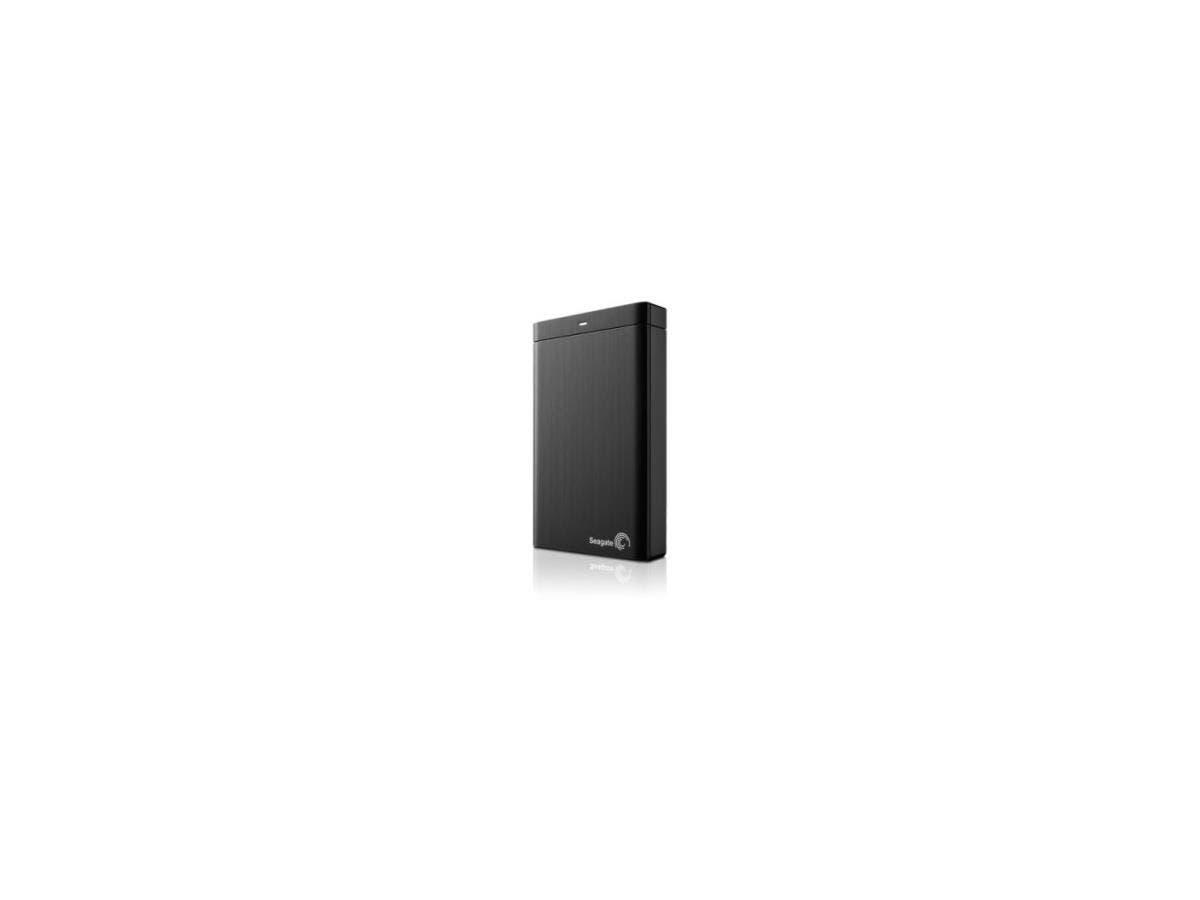 """Seagate Backup Plus Slim STDR1000100 1 TB 2.5"""" External Hard Drive - USB 3.0 - Portable - Black-Large-Image-1"""