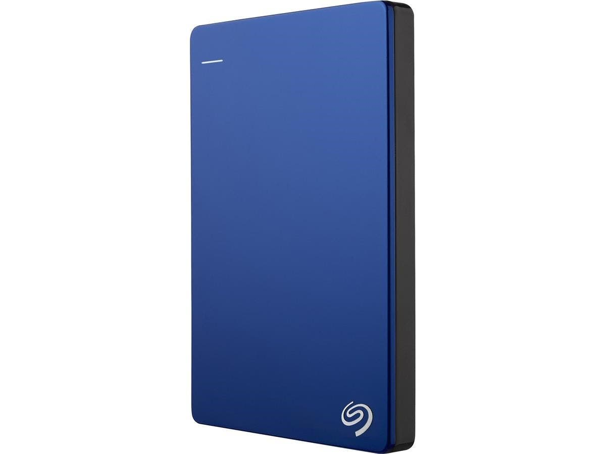 "Seagate Backup Plus STDR1000102 1 TB 2.5"" External Hard Drive - USB 3.0 - Portable - Blue-Large-Image-1"