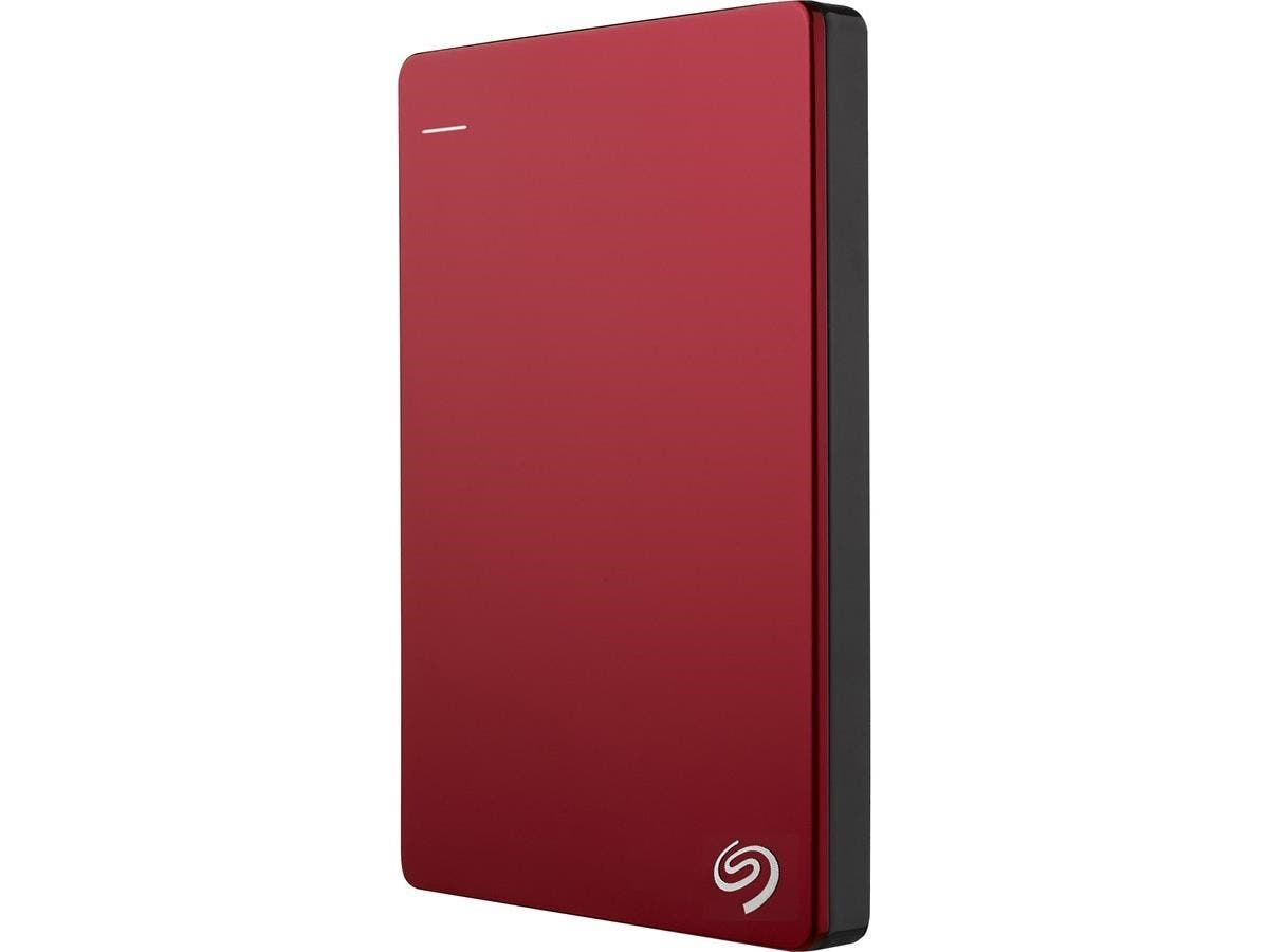 "Seagate Backup Plus STDR1000103 1 TB 2.5"" External Hard Drive - USB 3.0 - Portable - Red-Large-Image-1"