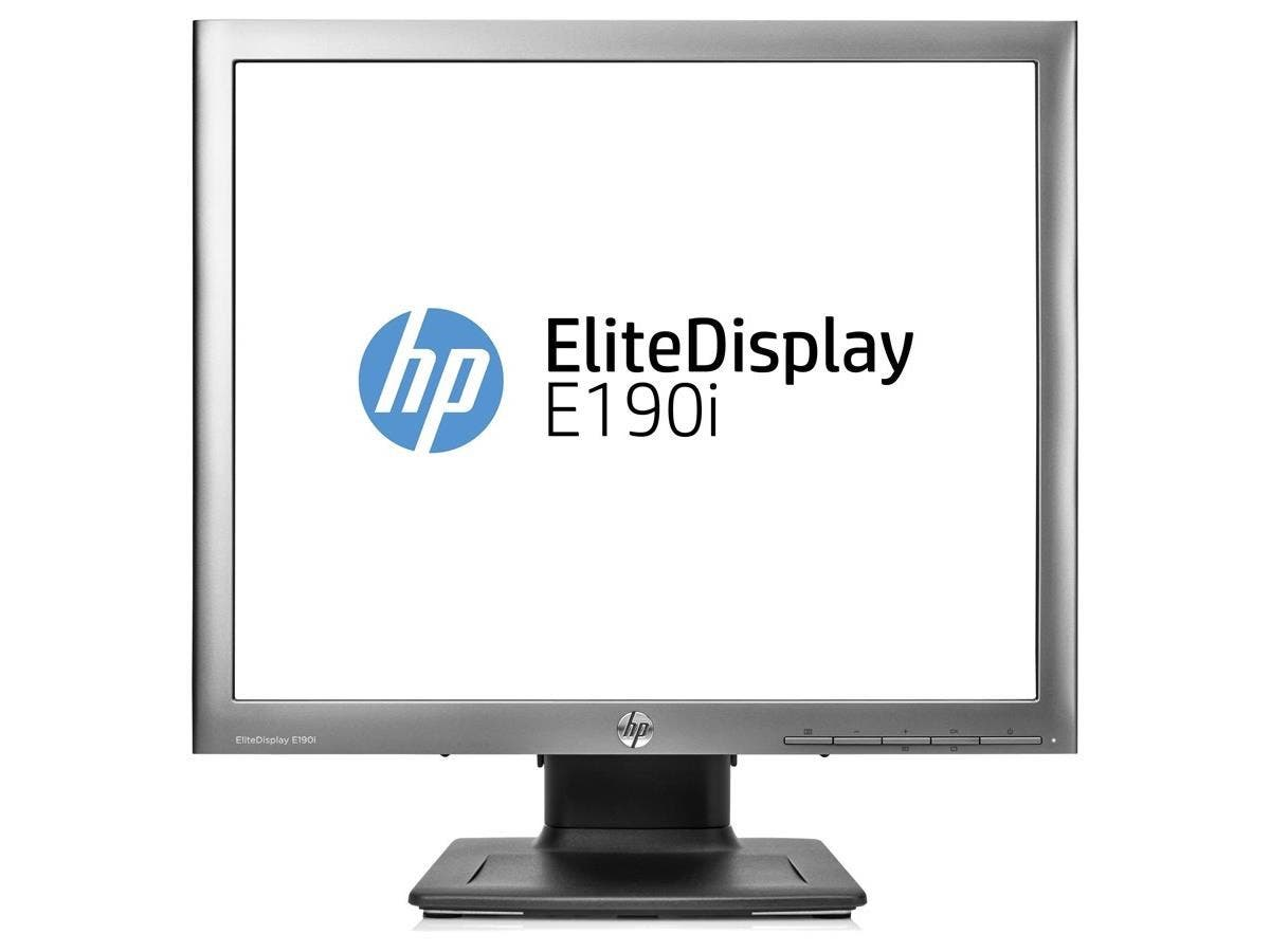 "HP Elite E190i 18.9"" LED LCD Monitor - 5:4 - 8 ms - Adjustable Display Angle - 1280 x 1024 - 16.7 Million Colors - 250 Nit - 3,000,000:1 - SXGA - DVI - VGA - DisplayPort - USB - 28 W - Black -Large-Image-1"