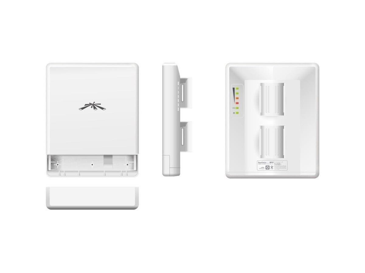 Ubiquiti NanoStation LOCOM9 IEEE 802.11n 150 Mbit/s Wireless Bridge - 6.2 Mile Maximum Outdoor Range - 1 x Network (RJ-45) - Pole-mountable-Large-Image-1