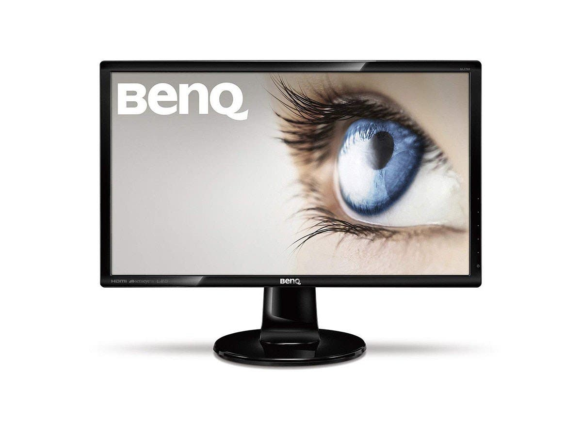 "BenQ GL2460 24"" LED LCD Monitor - 16:9 - 2 ms - Adjustable Display Angle - 1920 x 1080 - 16.7 Million Colors - 250 Nit - 1,000:1 - Full HD - Speakers - DVI - HDMI - VGA - 23 W - Glossy Black-Large-Image-1"