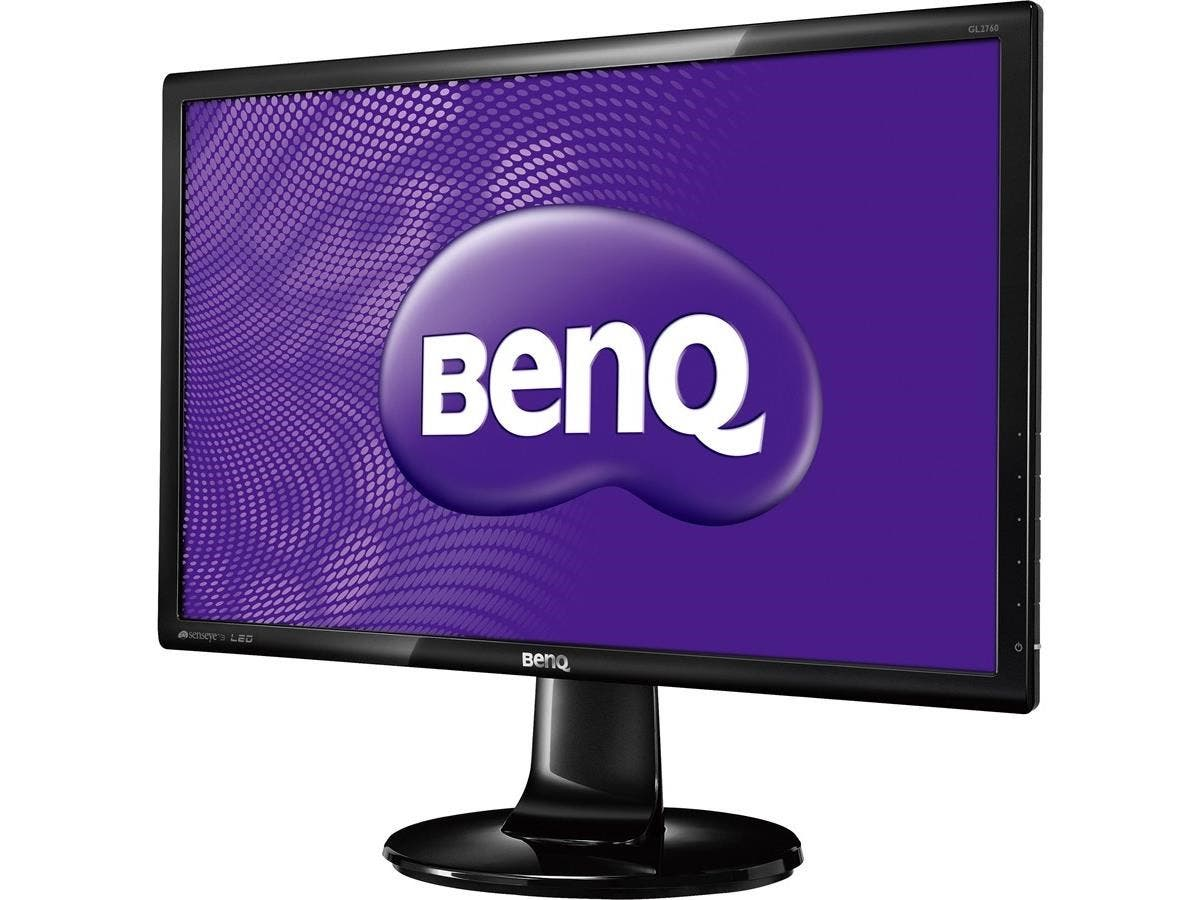 "BenQ GL2760H 27"" LED LCD Monitor - 16:9 - 2 ms - 1920 x 1080 - 16.7 Million Colors - 300 Nit - 12,000,000:1 - Full HD - DVI - HDMI - VGA - 21 W - Glossy Black - ENERGY STAR-Large-Image-1"