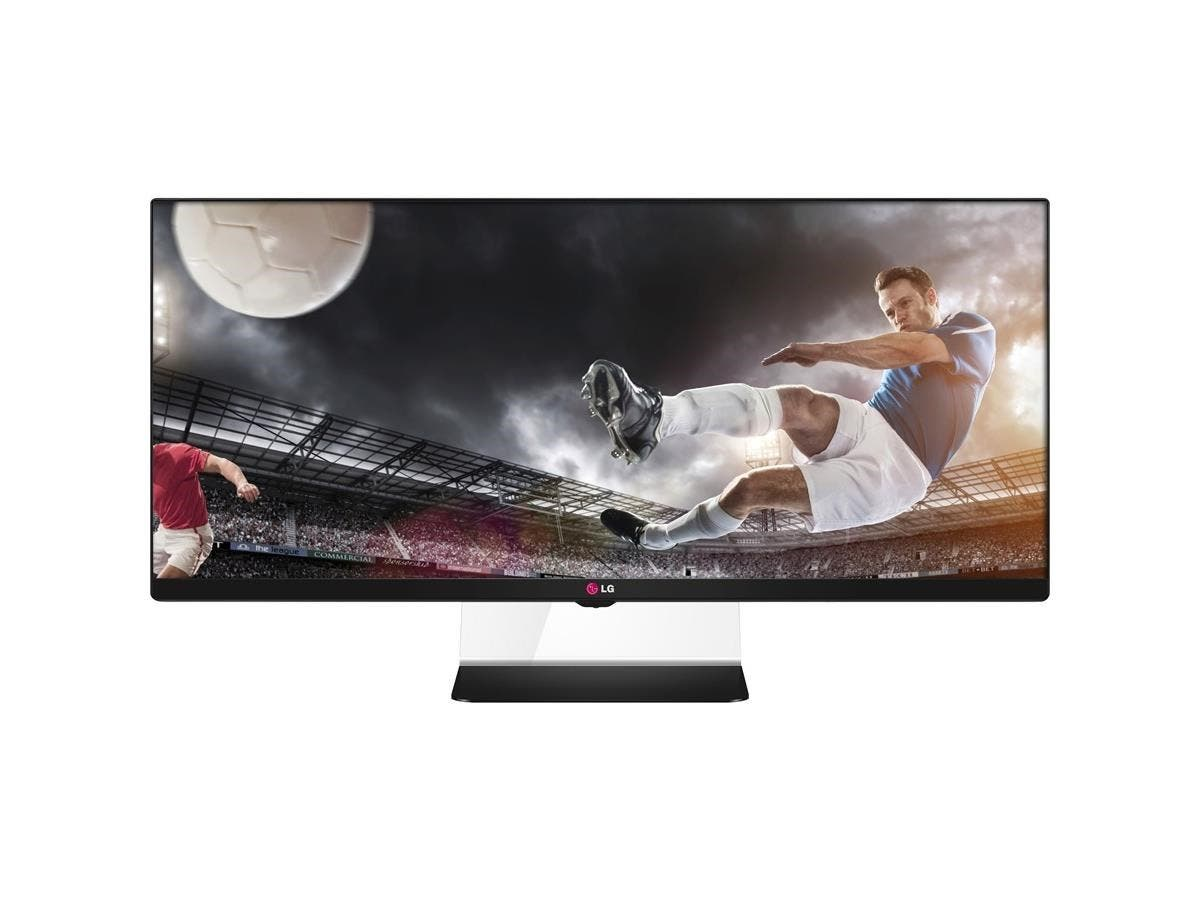 "LG 34UM64-P 34"" LCD Monitor - 21:9 - 5 ms - Adjustable Display Angle - 2560 x 1080 - 16.7 Million Colors - 300 Nit - 5,000,000:1 - UW-UXGA - Speakers - DVI - HDMI - DisplayPort - 48 W - Black-Large-Image-1"
