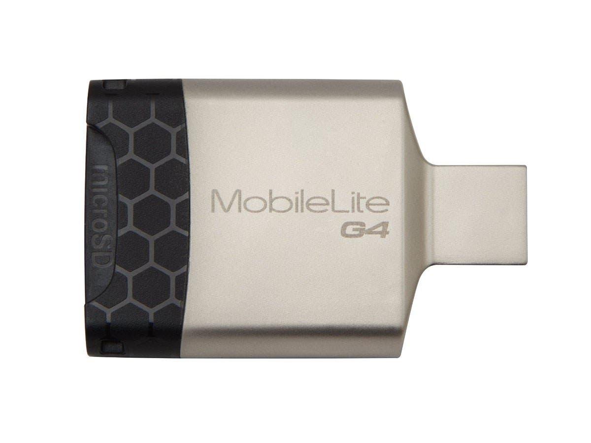 Kingston MobileLite G4 USB 3.0 Reader - FCR-MLG4 - SD, SDHC, SDXC, microSD, microSDHC, microSDXC - USB 3.0External-Large-Image-1