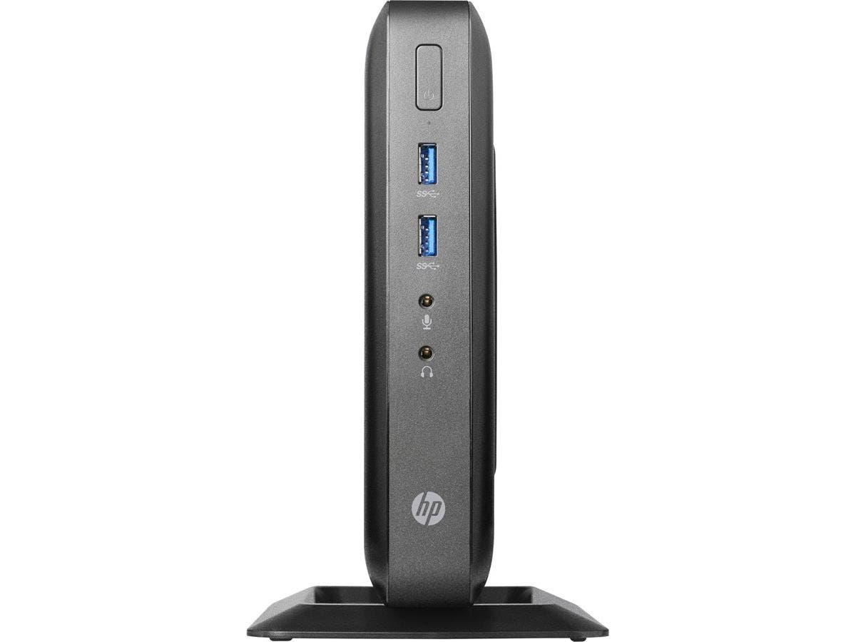 HP Thin Client - AMD G-Series GX-212JC Dual-core (2 Core) 1.20 GHz - 4 GB RAM DDR3L SDRAM - 8 GB SSD - AMD Radeon HD Graphics - Gigabit Ethernet - HP ThinPro (English) - DisplayPort - VGA