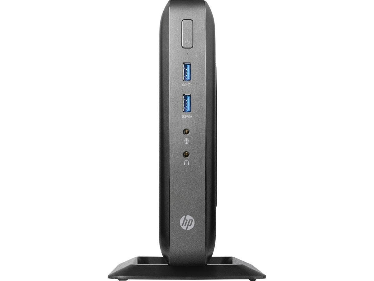 HP Thin Client - AMD G-Series GX-212JC Dual-core (2 Core) 1.20 GHz - Black - 4 GB RAM DDR3L SDRAM - 8 GB SSD - AMD Radeon HD Graphics - Gigabit Ethernet - HP Smart Zero (English) - DisplayPort - VGA -