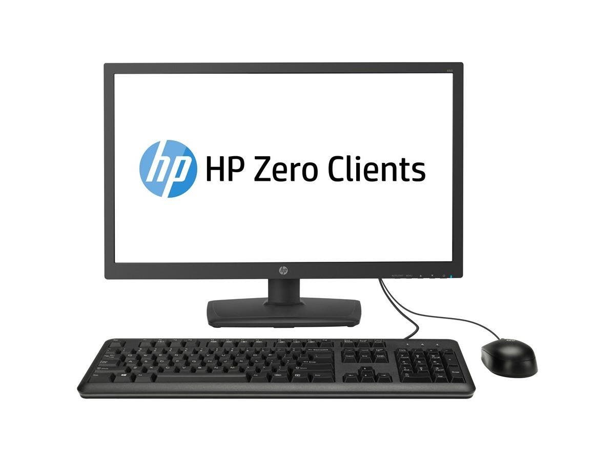 "HP All-in-One Zero Client - Teradici Tera2321 - 512 MB RAM DDR3 SDRAM - 256 MB Flash - Teradici - Gigabit Ethernet - 23.6"" - DVI - VGA - Network (RJ-45) - 6 Total USB Port(s) - 6 USB 2.0 Port(s)"
