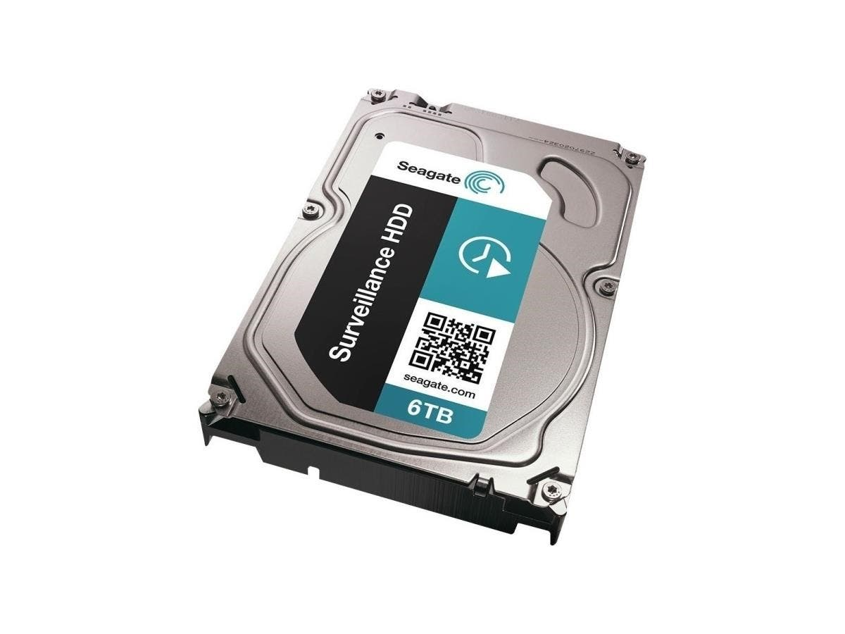 "Seagate Surveillance ST6000VX0001 6 TB 3.5"" Internal Hard Drive - SATA - 7200rpm - 128 MB Buffer - Black"
