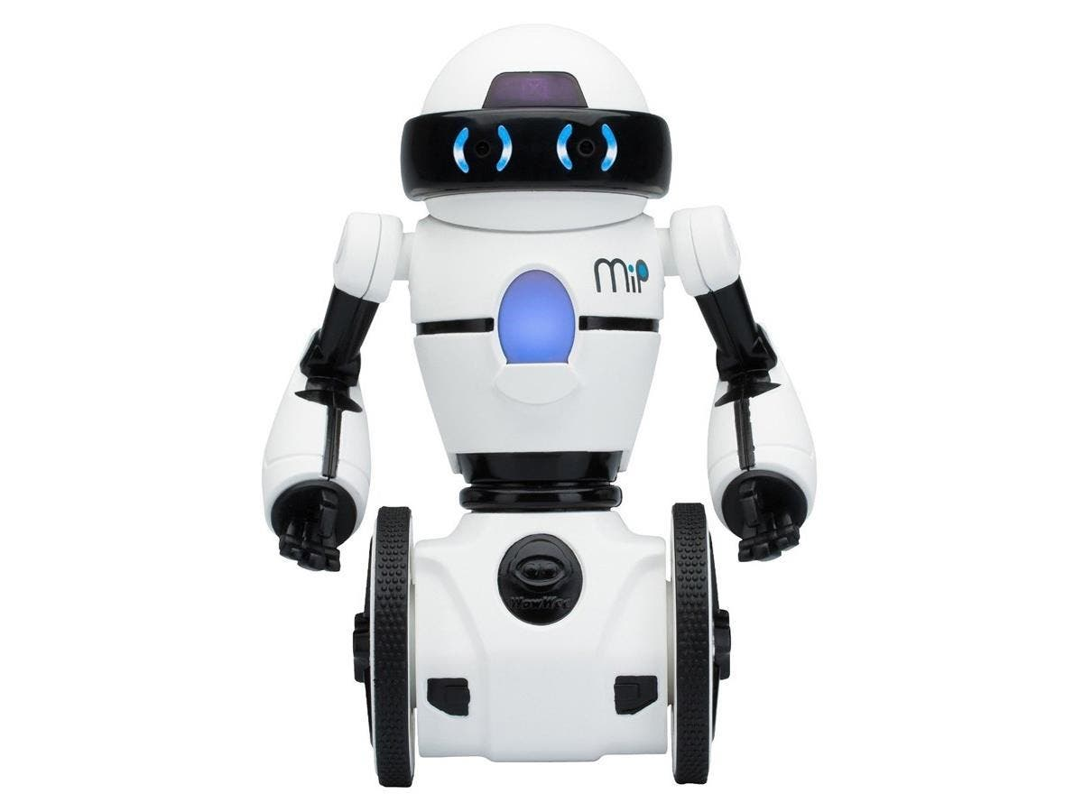 WowWee MiP - White and Black - MiP Robot - Download Free iOS Or Android MiP App For More Fun - Dual Balancing On Two Wheels - White and Black - Path Tracking - Tray Included For Carrying Objects - Gam-Large-Image-1