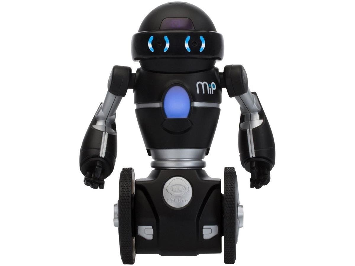 WowWee MiP - Black and Silver - MiP Robot - Download Free iOS Or Android MiP App For More Fun - Dual Balancing On Two Wheels - Black and Silver - Path Tracking - Tray Included For Carrying Objects - G-Large-Image-1