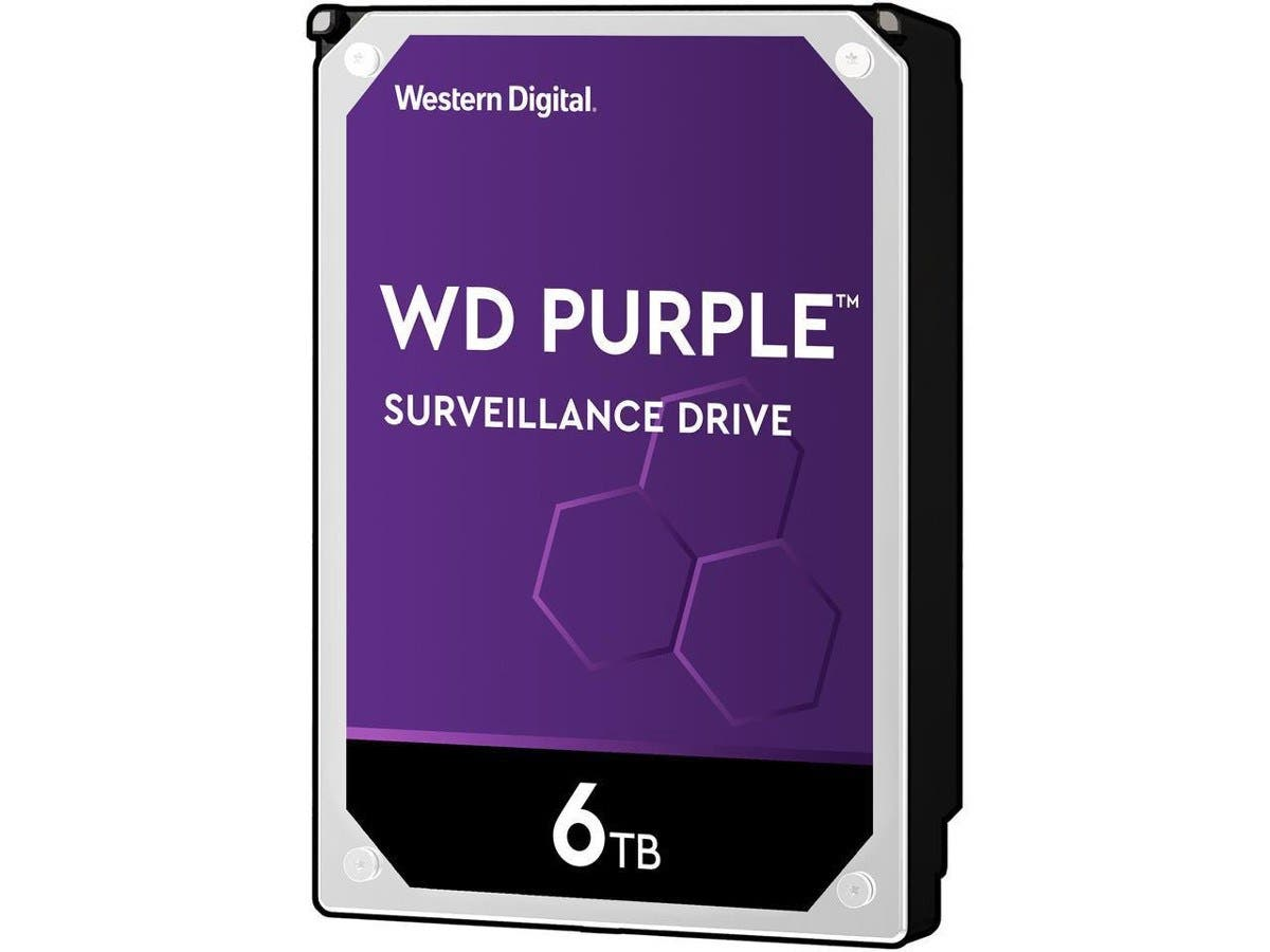 "WD Purple WD60PURX 6TB Surveillance 3.5"" Internal HDD - SATA 64 MB Buffer 1Pack-Large-Image-1"