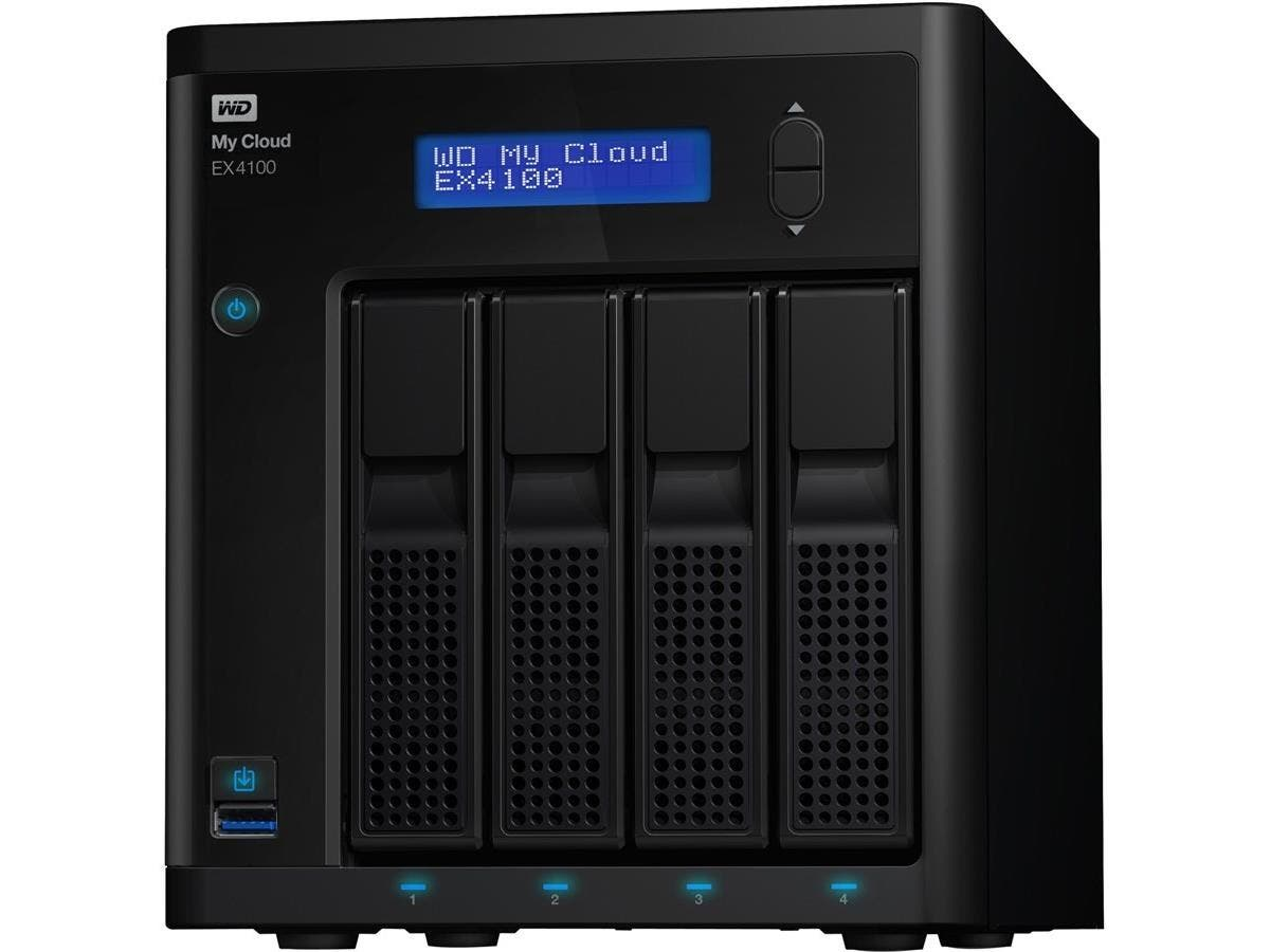 WD My Cloud EX4100 Diskless Expert Series 4-Bay Network Attached Storage - NAS - WDBWZE0000NBK-NESN-Large-Image-1