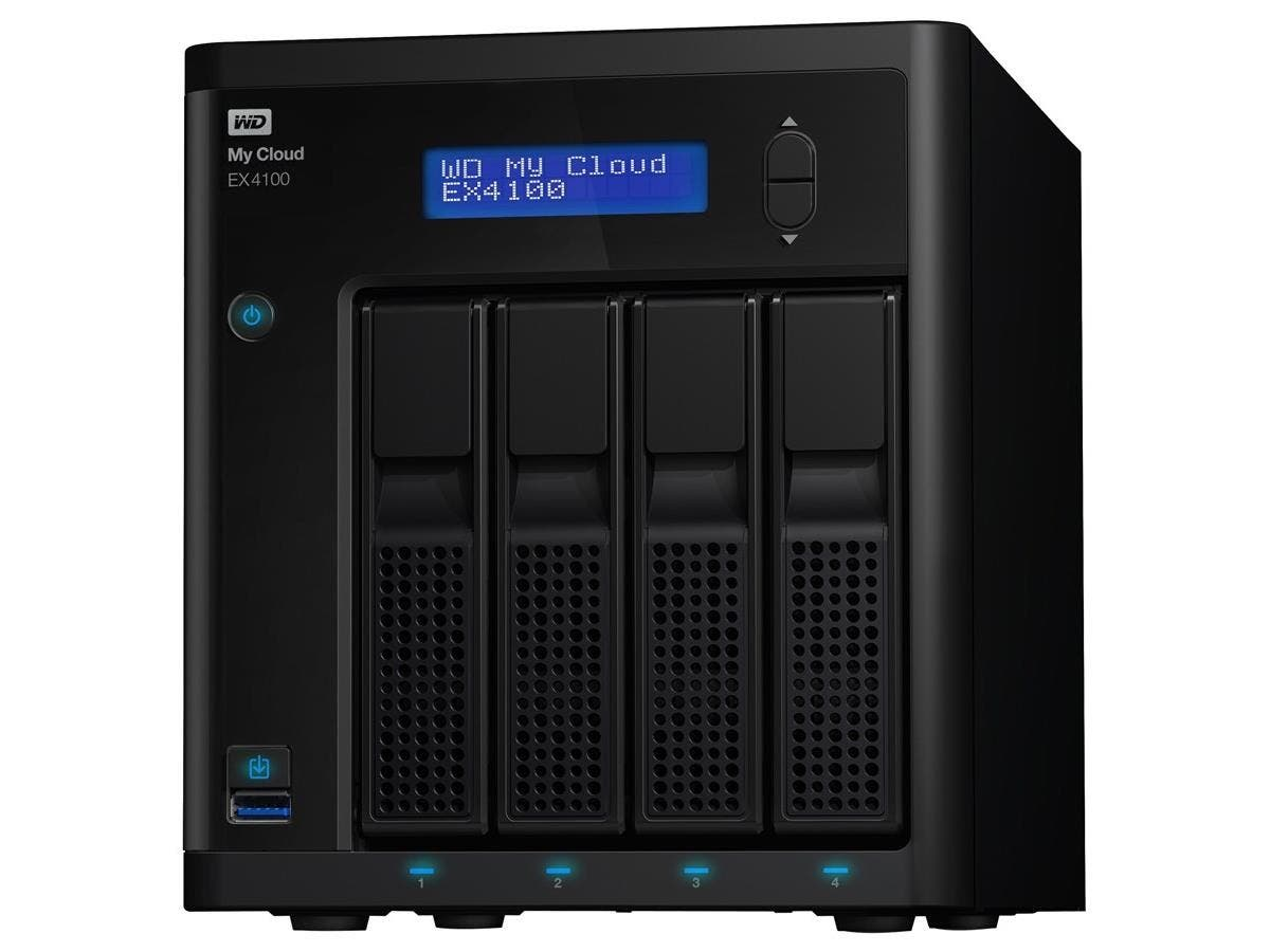 WD 8TB My Cloud EX4100 Expert Series 4-Bay Network Attached Storage - NAS - WDBWZE0080KBK-NESN