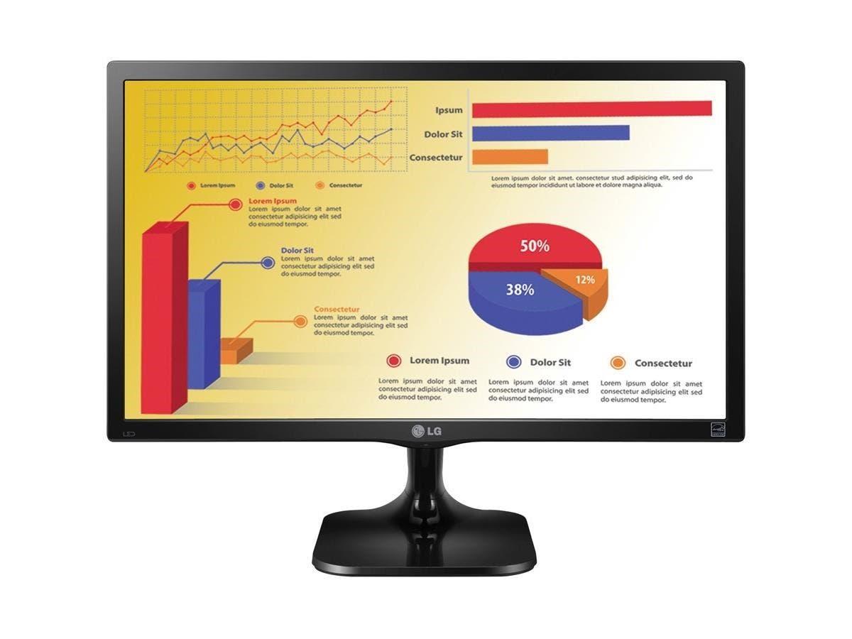 "LG 22MC37D-B 22"" LED LCD Monitor - 16:9 - 5 ms - 1920 x 1080 - 16.7 Million Colors - 200 Nit - 5,000,000:1 - Full HD - DVI - VGA - 23 W - Black Hairline - ENERGY STAR 6.0, EPEAT -Large-Image-1"