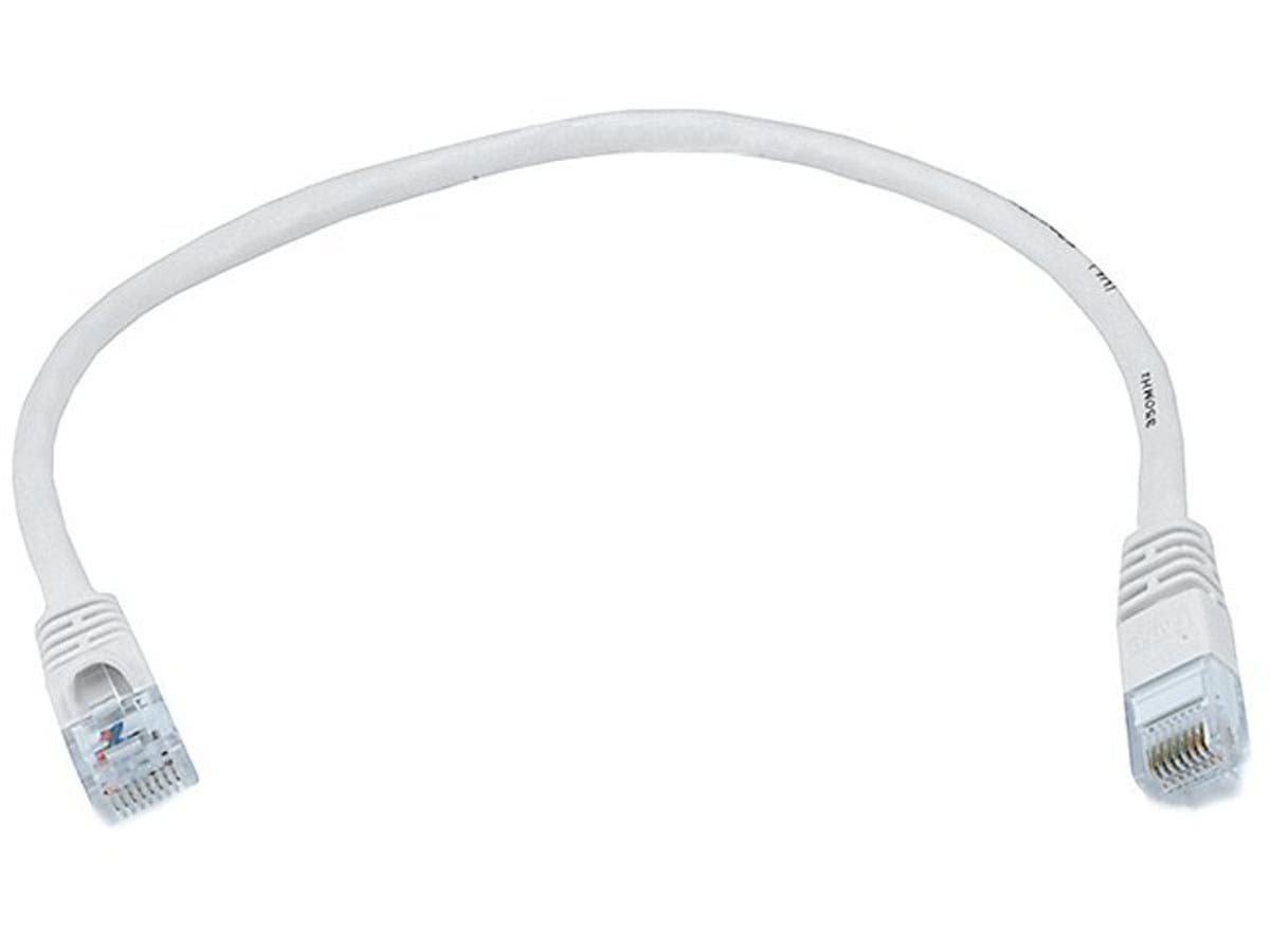 Cat5e 24AWG UTP Ethernet Network Patch Cable, 1ft White
