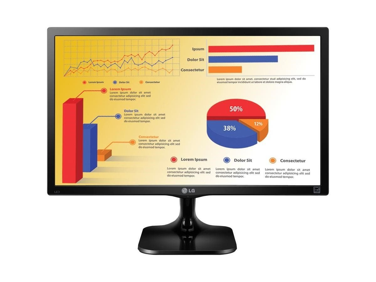 "LG 24MC37D-B 24"" LED LCD Monitor - 16:9 - 5 ms - 1920 x 1080 - 16.7 Million Colors - 200 Nit - 5,000,000:1 - Full HD - DVI - VGA - 25 W - Black Hairline - TÜV, EPEAT"