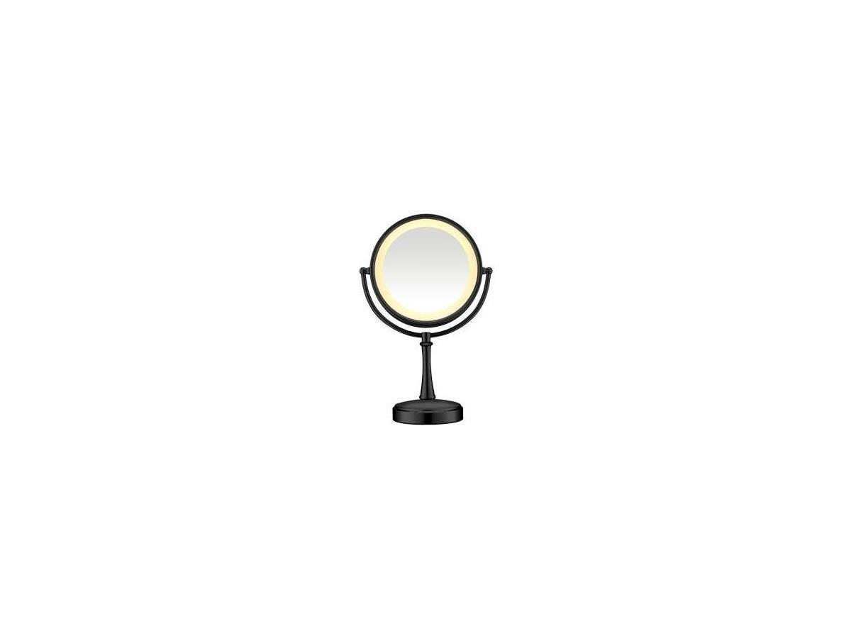 """Conair Touch Control Lighted Mirror - Matte Black - Round8.50"""" Diameter - Matte Black"""