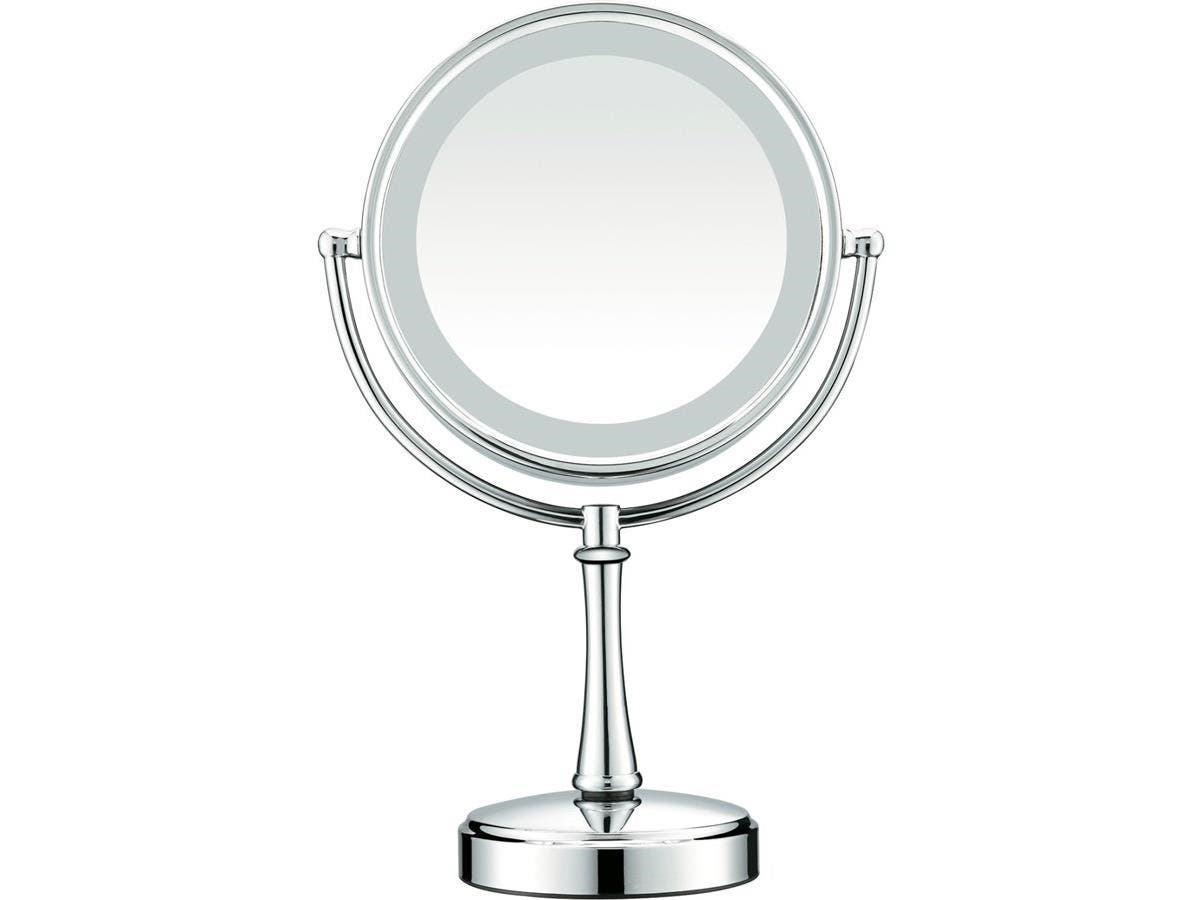 "Conair Touch Control Lighted Mirror - Satin Nickel - Round8.50"" Diameter - Satin Nickel"