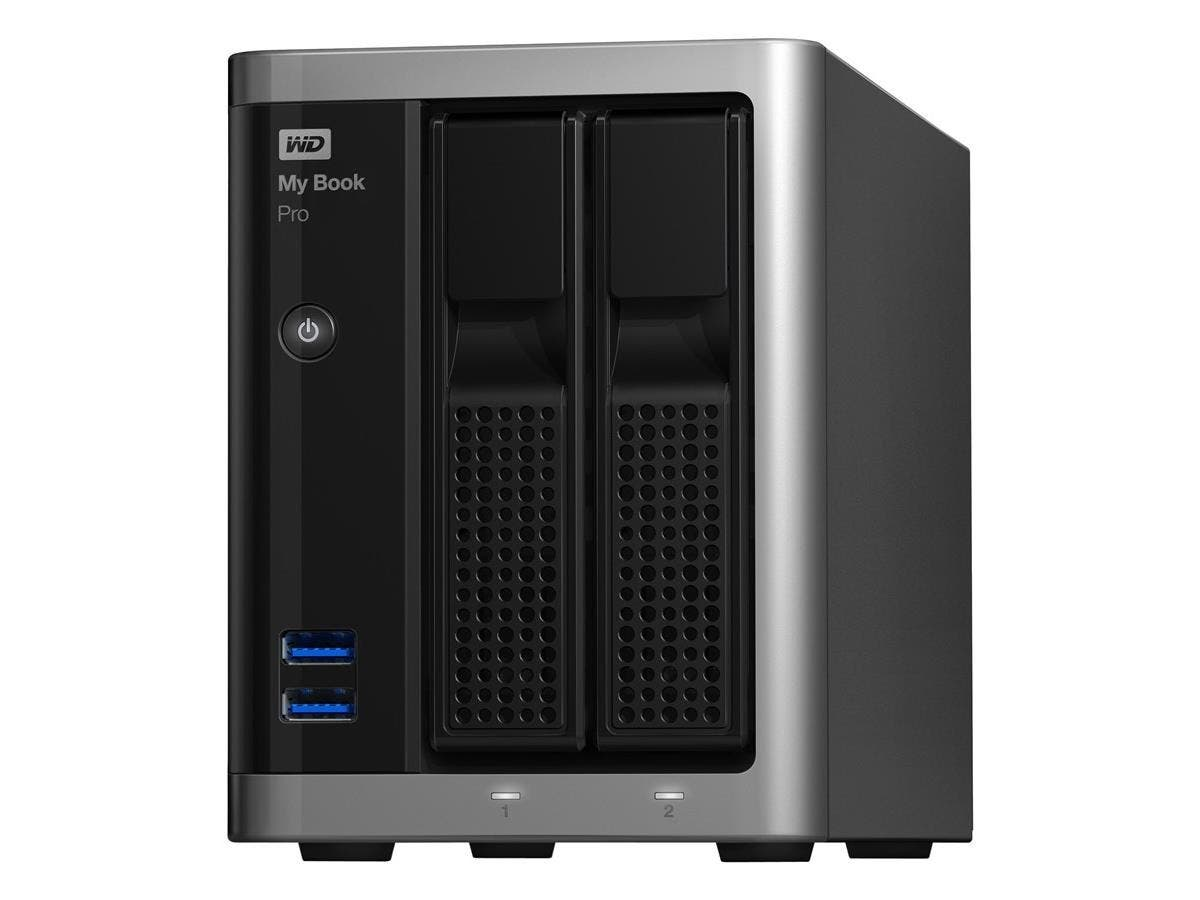 My Book® Pro 6TB dual-drive, high-speed Tbolt2, Mac OS X RAID storage - Intel Xeon Dual-core (2 Core) - 2 x Total Bays - 6 TB HDD - 4 GB RAM - RAID Supported 0, 1, JBOD - Gigabit Ethernet - Networ