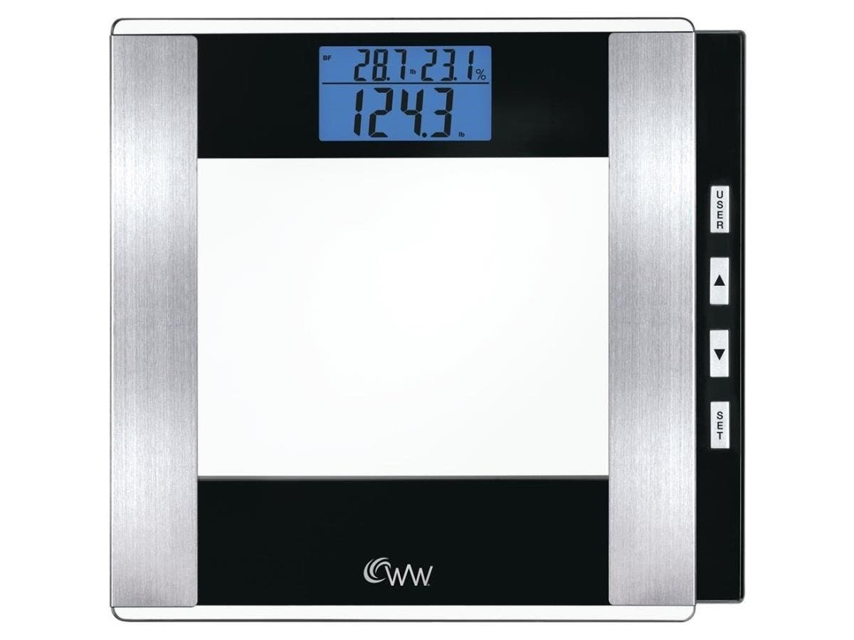 Weight Watchers Glass Body Analysis Scale - 400 lb / 180 kg Maximum Weight Capacity - Tempered Glass, Glass
