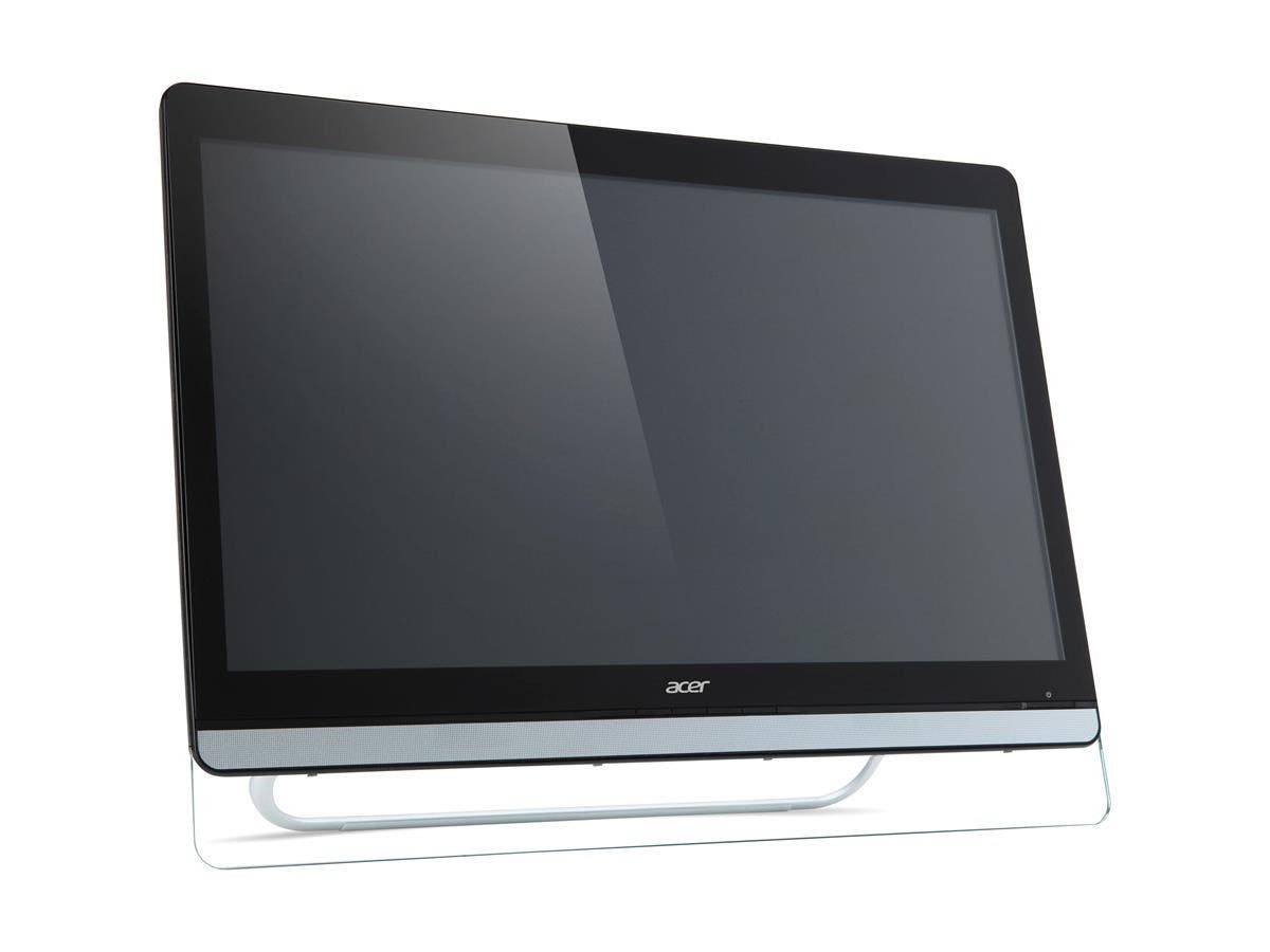 "Acer UT220HQL 21.5"" LED LCD Touchscreen Monitor - 16:9 - 8 ms - Multi-touch Screen - 1920 x 1080 - Full HD - Adjustable Display Angle - 16.7 Million Colors - 250 Nit - Speakers - HDMI - USB - VGA"
