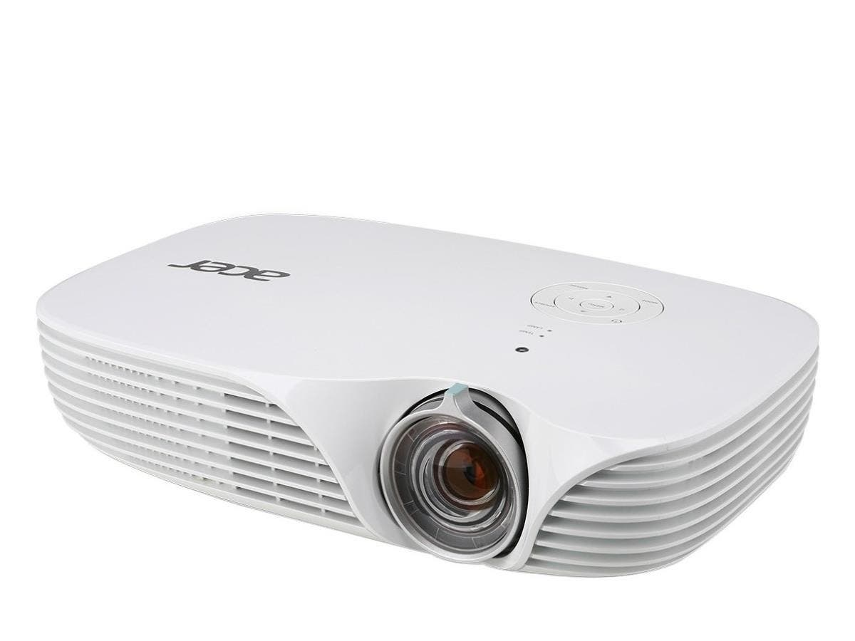 Acer K138ST 3D Ready DLP Projector - 720p - HDTV - 16:10 - Front, Rear, Ceiling1.9 - LED - 20000 Hour Normal Mode - 30000 Hour Economy Mode - 1280 x 800 - WXGA - 100,000:1 - 800 lm - HDMI - USB - VGA