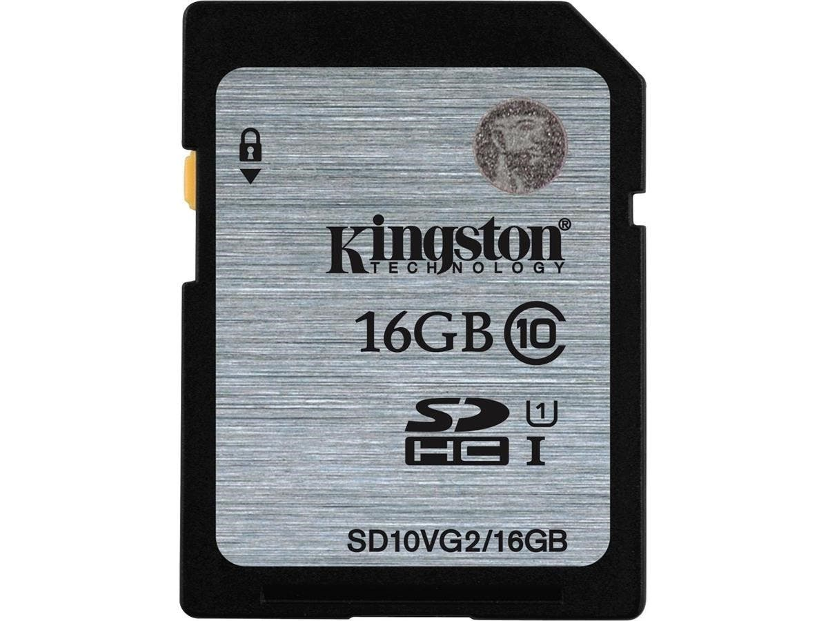 Kingston 16 GB SDHC - Class 10/UHS-I (U1) - 45 MB/s Read-Large-Image-1