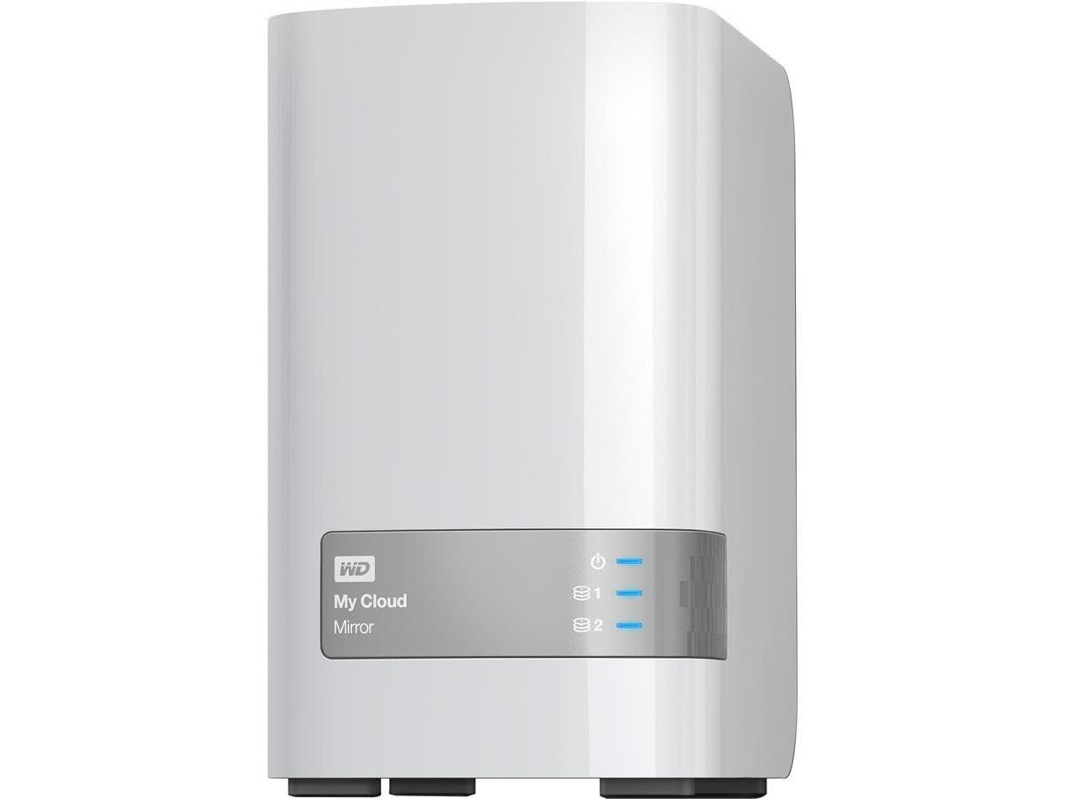 WD My Cloud Mirror (4 TB) 2-bay Personal Cloud Storage (Gen 2) - (NAS), RAID, file sync, media server - Marvell ARMADA 300 385 Dual-core (2 Core) 1.30 GHz - 2 x Total Bays - 4 TB HDD - 512 MB RAM DDR3
