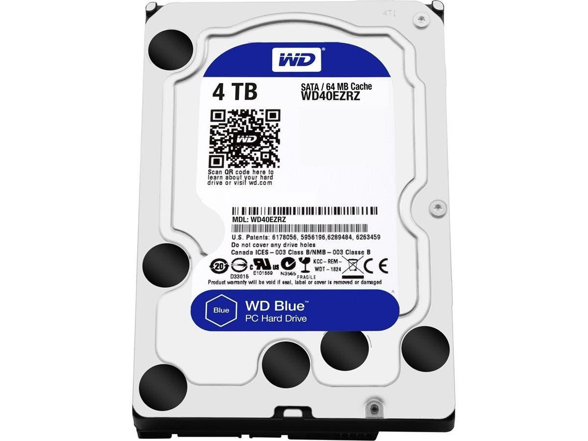 WD Blue 4TB Desktop Hard Disk Drive - 5400 RPM SATA 6Gb/s 64MB Cache 3.5 Inch - WD40EZRZ-Large-Image-1