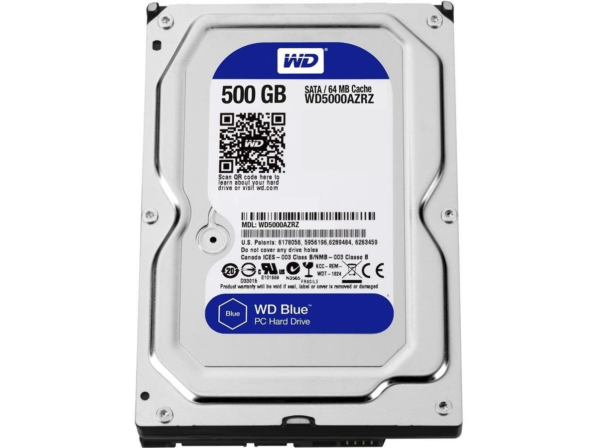 WD Blue 500 GB 3.5-inch SATA 6 Gb/s 5400 RPM 64 MB Cache PC Hard Drive - SATA - 5400rpm - 64 MB Buffer-Large-Image-1