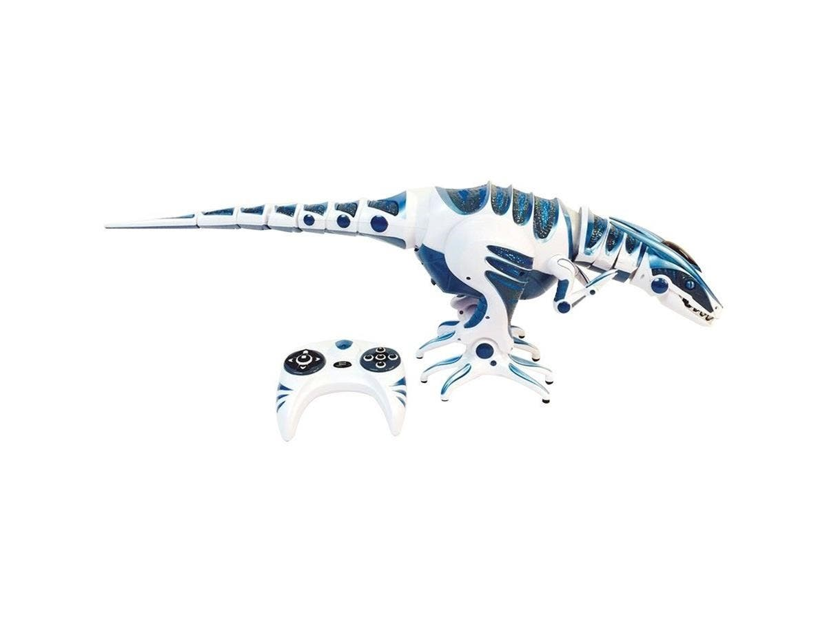 WowWee Roboraptor, Blue - Robotic Raptor- Remote Control - Head Neck Tail Actions - Walk Run Turn Pull - Connect to Smart Device - Touch Sensor-Large-Image-1